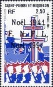 St Pierre & Miquelon 1991  Military/ WWII/ Navy/ Government/ Cross of Lorraine/ War 1v (n38212a)