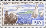 St Pierre & Miquelon 1993  Sailing Boats/ Sail/ Settlers/ People/ Transport 1v (n38212b)