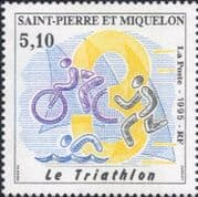 St Pierre & Miquelon 1995  Triathlon/ Cycling/ Sport/ Bikes/ Bicycle/ Games  1v (n30728)