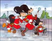 St Vincent 1990 Disney/ Mickey/ Goofy/ Soldiers/ Cartoons/  StampEx/ Music 1v m/s (ad1076)