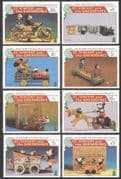 St Vincent 1995 Disney/ Mickey/ Toys/ Trains/ Motor Bike/ Motorcycle/ Christmas 8v set (n19913)