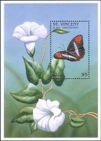 St Vincent 1996  Butterflies/ Insects/ Nature/ Flowers/ Butterfly  1v m/s  (b9913)