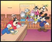 St Vincent 1996 Disney/ Mickey/ Work/ Jobs/ Jury Sevice/ Cartoons/ Animation 1v m/s (d00148)