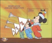 St Vincent 1998 Disney/ Mickey Mouse 70th/ Trumpets/ Cartoons/ Music 1v m/s (ad1099)
