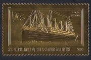 St Vincent 1998 Titanic  /  Ships  /  Boats  /  Nautical  /  Transport  /  Shipwrecks  /  GOLD 1v b2003a