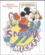 St Vincent 1999 Disney/ Mickey/ Skiing/ Snow Fun/ Sports/ Animation 1v m/s (b2732)