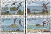 St. Lucia 1985  Shearwater/Cuckoo/ Frigate Birds/ Nature Reserves/ Wildlife  4v set  (b4027)