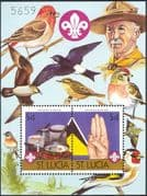 St. Lucia 1986 Scouts/ Scouting/ Camp Fire/\ Cooking/\ Birds/ \Baden Powell 2v m/s (b3486)