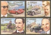 St. Vincent 1987 Ferrari/ Rolls Royce/ RR/ Benz/ Ford/ Cars /Motoring /Transport / People4v set (s5304)