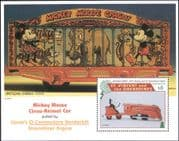 St. Vincent 1995 Disney/ Christmas/ Mickey/ Train/ Railway/ Toys/ Circus 1v m/s (s4368)