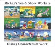 St. Vincent 1996 Disney/ Workers/ Mickey/ Fishing/ Diving/ Sea/ Lighthouse/ Fish 9v sht (n18913)