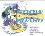 St. Vincent 1999 Disney/ Mickey/ Minnie/ Snowboard/ Sports/ Animation 1v m/s (b2731)
