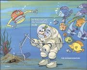 St.Vincent 1996  Disney/ Work/ Diver/ Marine/ Fish/ Diving/ Cartoons/ Animation 1v m/s (b417)