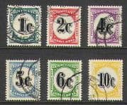 SWA 1961 Postage Due 6v set (a) vfu (n21093)
