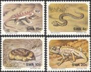 SWA 1978 Snake/ Gecko/ Chameleon/ Mole/ Lizards/ Animals/ Nature/ Wildlife 4v set (n19976)