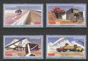 SWA 1981 Salt Works  /   Tractors  /  Lorry  /  Truck 4v set n19947
