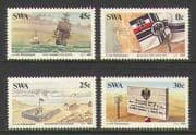 SWA 1984 Boats  /  Sail  /  Map  /  German Flag 4v set (n19982)