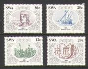 SWA 1986 Ship  /  Exploration  /  People  /  Cao 4v set (n19988)