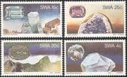 SWA/South West Africa 1978 Topaz/ Amethyst/ Aquamarine/ Malachite/ Gems/ Minerals/ Mining 4v set (s4132)
