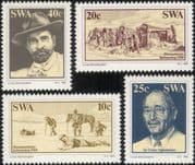 SWA - South West Africa 1983 Diamond Mining/ Diamonds/ Gems/ Minerals/ Horses/ People 4v set (n19945)