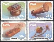 SWA  /  South West Africa 1985 Music  /  Traditional Instruments  /  Drum 4v set (sw10101)