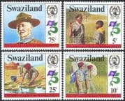 Swaziland 1982 Scouts/ Baden-Powell/ Scouting/ People 4v set (n22162)