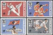 Swaziland 1988 Olympic Games/ Taekwondo/ Tennis/ Boxing/ Sports/ Martial Arts/ Stadium 4v set (n16488)
