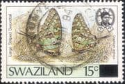 Swaziland 1990  Butterflies/ Insects/ Surcharge  1v  vfu  n22186