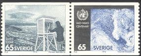 Sweden 1973 WMO Centenary/ IMO/ OMM/ Meteorology/ Weather/ Science 2v set pr ex coil (n43516)
