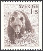 Sweden 1978 Brown Bear/ Animals/ Wildlife/ Nature/ Bears/ Conservation 1v ex coil (n23543)