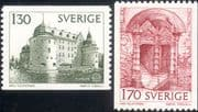 Sweden 1978  Europa/ Buildings/ Orebro Castle/ Architecture/ Door  2v set ex coil (n46348)