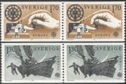 Sweden 1979 Europa/ Communications/ Sledge Boat/ Morse Key/ Telecomms 2v set prs (n43636)