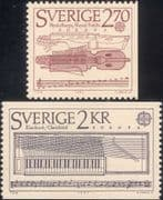Sweden 1985  Europa/ Music/ Keyed-Fiddle/ Clavichord/ Musical Instruments  2v set  (n46349)