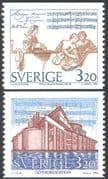 Sweden 1994 J H Roman/ Composers/ Music/ Singing/ Opera House/ Buildings  2v set coil (n43532)