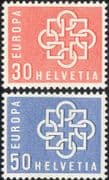 Switzerland 1959 Europa/ Links Design/ Animation 2v set (ex1048)