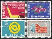 Switzerland 1961 Hockey  /  Sports  /  Welfare  /  Construction Aid  /  Communications 4v n38690