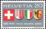 Switzerland 1965 Coats-of Arms/ Heraldry/ History/ Heritage/ Politics/ Flags 1v (n45455)