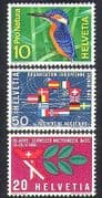 Switzerland 1966 Kingfisher/ Birds/ Nuclear Science/ Industry Fair/ Nature 3v set (n38350)