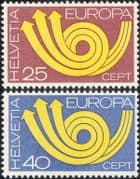 Switzerland 1973 Europa/ CEPT/ Communication/ Posthorn/ Arrows/ Animation 2v set (ex1054)