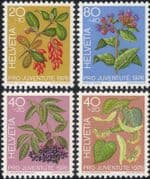 Switzerland 1976 Fruit/ Flowers/ Trees/ Plants/ Nature/ Welfare Fund 4v set (ch1045)