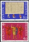 Switzerland 1982 Europa/ Confederation/ Treaty/ Scroll/ Mural/ History/ Heritage 2v set (ex1047)