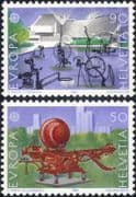 Switzerland 1987 Europa/ Contemporary Art/ Sculpture/ Artists/ Sculptors 2v set (ex1044)