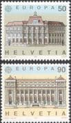 Switzerland 1990 Europa/ Post Office Buildings/ Architecture/ Animation 2v set (n45938)