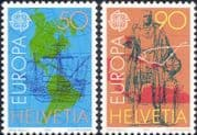 Switzerland 1992 Europa/ Columbus/ America/ Boats/ Sailing/ Transport  2v set (ex1046)