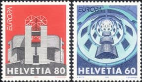 Switzerland 1993 Europa/ Contemporary Architecture/ Buildings/ Design  2v set (ex1049)