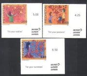 Switzerland 2007 Greetings  /  Hearts  /  Stars  /  Flowers  /  Animation 3v s  /  a set (n36115)