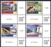 Switzerland 2008 Traditional Routes  /  Buildings  /  Roads  /  Transport 4v set (n36042)