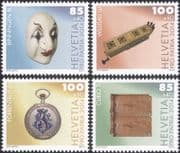 Switzerland 2014 Pro Patria/ Welfare Fund/ Museums/ Clown Mask/ Music/ Watch/ Tile 4v set (ch1058)