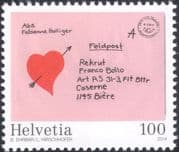 Switzerland 2014 Swiss Army Post 125th / Letter/ Heart/ Mail/ Postal Service 1v (ch1008)