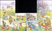Switzerland 2018 Fairy Tales/ Red Riding Hood/ Puss in Boots/ Stories/ Books/ Cats 2v set (ch1068)